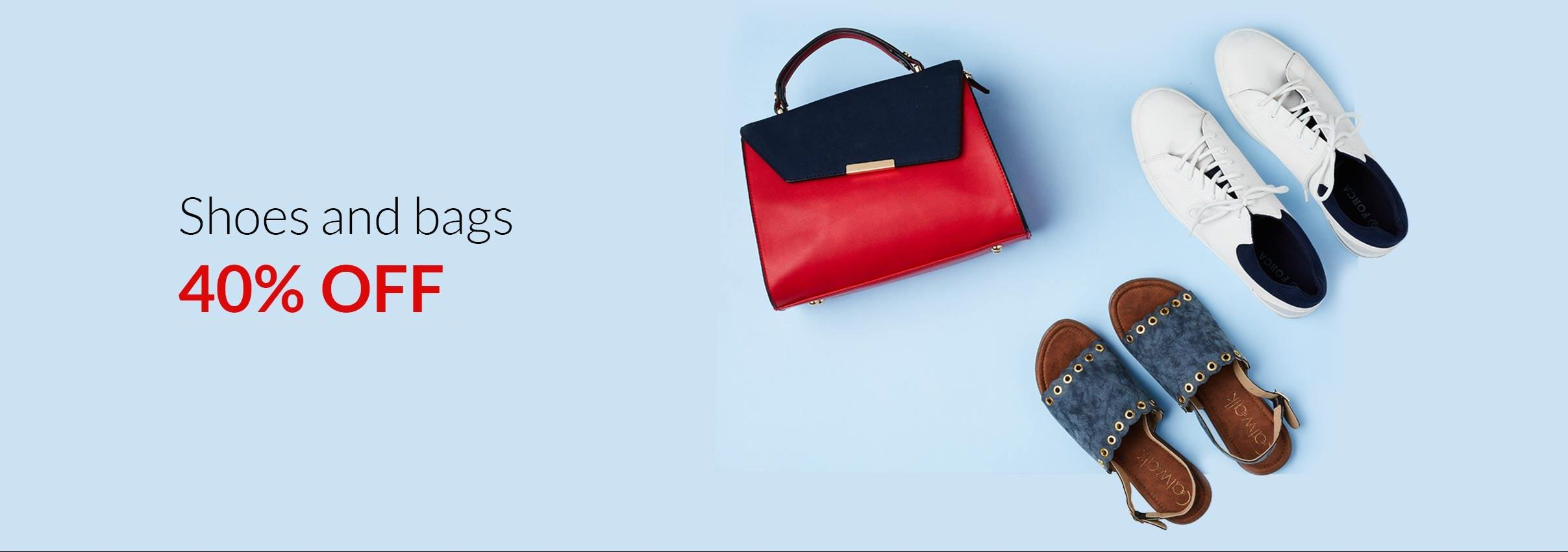 - 40% OFF on Shoes & Bags